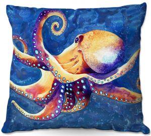 Decorative Outdoor Patio Pillow Cushion | Brazen Design Studio - Adrift Octopus