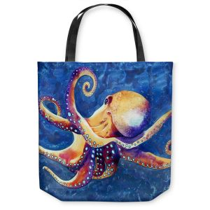 Unique Shoulder Bag Tote Bags |Brazen Design Studio - Adrift Octopus