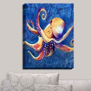 Decorative Canvas Wall Art | Brazen Design Studio - Adrift Octopus | Sea Life Ocean Creatures