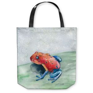 Unique Shoulder Bag Tote Bags |Brazen Design Studio - Blue Jean Frog