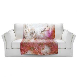 Artistic Sherpa Pile Blankets | Brazen Design Studio - Cascade Abstract