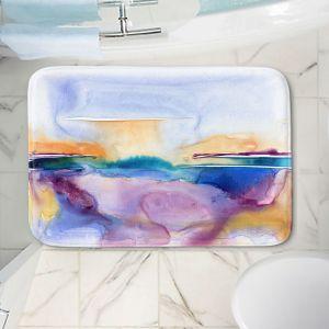 Decorative Bathroom Mats | Brazen Design Studio - Crystal Blue Persuasion | Abstract Landscape