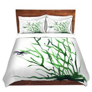 Artistic Duvet Covers and Shams Bedding | Brazen Design Studio - Dragonfly Grass