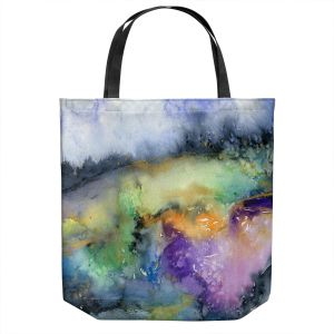 Unique Shoulder Bag Tote Bags | Brazen Design Studio - Elysium | Abstract Landscape Trees Forest