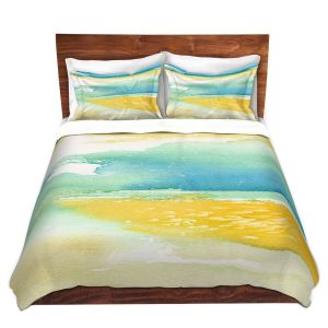Artistic Duvet Covers and Shams Bedding | Brazen Design Studio - Fall Into Your Ocean Eyes | Nature Ocean Sea Water