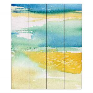 Decorative Wood Plank Wall Art | Brazen Design Studio - Fall Into Your Ocean Eyes | Nature Ocean Sea Water