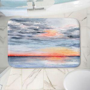 Decorative Bathroom Mats   Brazen Design Studio - Moment of Tranquility   Abstract Landscape Ocean
