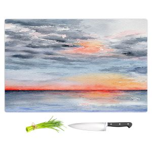 Artistic Kitchen Bar Cutting Boards | Brazen Design Studio - Moment of Tranquility | Abstract Landscape Ocean