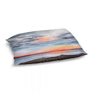 Decorative Dog Pet Beds | Brazen Design Studio - Moment of Tranquility | Abstract Landscape Ocean