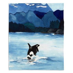 Decorative Fleece Throw Blankets | Brazen Design Studio - Orca Beach