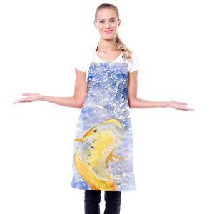 Artistic Bakers Aprons   Brazen Design Studio - Prosperity Koi Fish   Animals Fish Nature Water