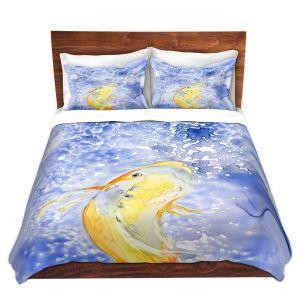 Artistic Duvet Covers and Shams Bedding   Brazen Design Studio - Prosperity Koi Fish   Animals Fish Nature Water