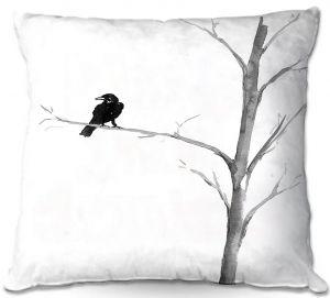 Throw Pillows Decorative Artistic | Brazen Design Studio - Raven Bird Tree