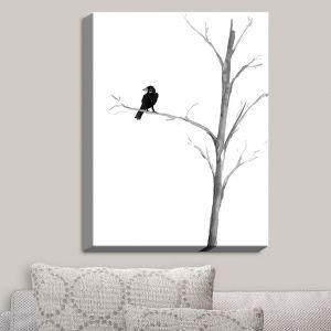 Decorative Canvas Wall Art | Brazen Design Studio - Raven Bird Tree | Birds Trees