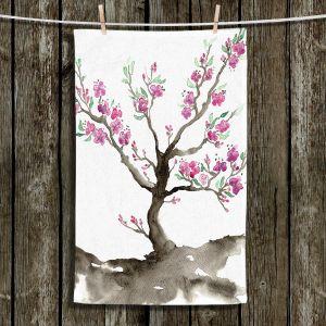Unique Hanging Tea Towels | Brazen Design Studio - Sakura | Cherry Blossom Tree
