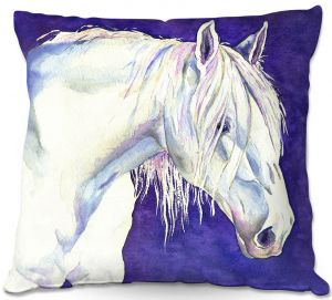 Unique Throw Pillows from DiaNoche Designs by Brazen Design Studio - Shay Horse   18X18