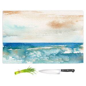 Artistic Kitchen Bar Cutting Boards | Brazen Design Studio - Sunny Days | Abstract Landscape Ocean
