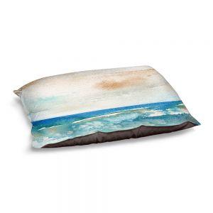 Decorative Dog Pet Beds   Brazen Design Studio - Sunny Days   Abstract Landscape Ocean
