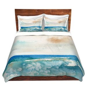 Artistic Duvet Covers and Shams Bedding | Brazen Design Studio - Sunny Days | Abstract Landscape Ocean