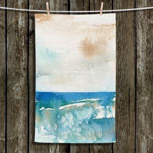 Unique Bathroom Towels | Brazen Design Studio - Sunny Days | Abstract Landscape Ocean