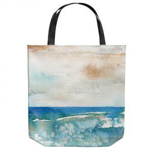 Unique Shoulder Bag Tote Bags | Brazen Design Studio - Sunny Days | Abstract Landscape Ocean