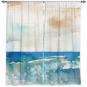 Decorative Window Treatments   Brazen Design Studio - Sunny Days   Abstract Landscape Ocean