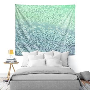 Artistic Wall Tapestry | Brazen Design Studio - Wavesong Abstract