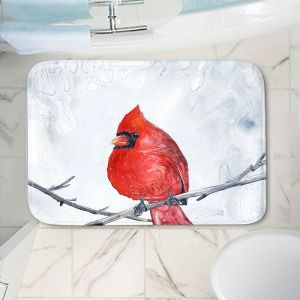 Decorative Bathroom Mats | Brazen Design Studio - Winter Cardinal
