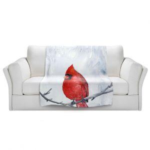 Artistic Sherpa Pile Blankets   Brazen Design Studio - Winter Cardinal
