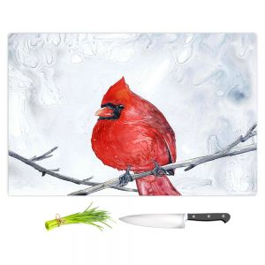 Artistic Kitchen Bar Cutting Boards | Brazen Design Studio - Winter Cardinal