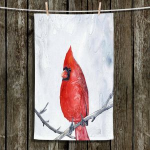 Unique Bathroom Towels | Brazen Design Studio - Winter Cardinal