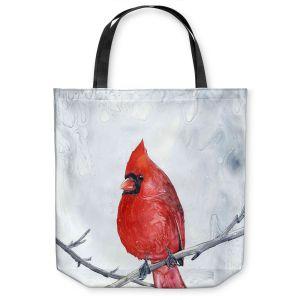 Unique Shoulder Bag Tote Bags |Brazen Design Studio - Winter Cardinal