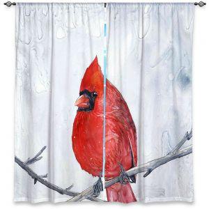 Decorative Window Treatments   Brazen Design Studio - Winter Cardinal