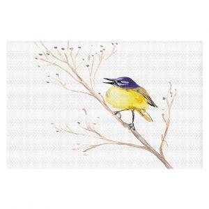 Decorative Floor Coverings   Brazen Design Studio - Yellow Wagtail Bird