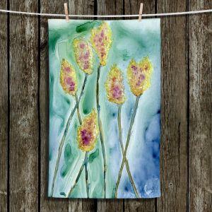 Unique Hanging Tea Towels | Brazen Design Studio - Yellow Star Thistle | Plants Flowers Nature