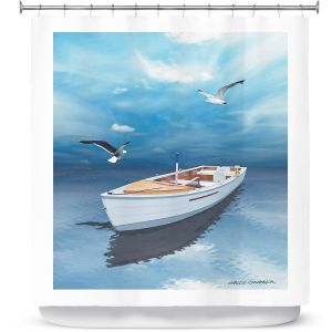 Premium Shower Curtains | Carlos Casomeyer - Blue Dream III