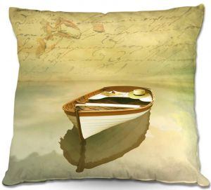Throw Pillows Decorative Artistic | Carlos Casamayor - Memories I Boat