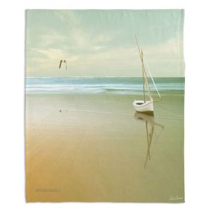 Decorative Fleece Throw Blankets | Carlos Casamayor - Soft Sunrise On the Beach I