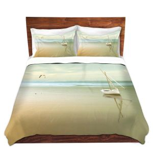 Artistic Duvet Covers and Shams Bedding | Carlos Casamayor - Soft Sunrise On the Beach I