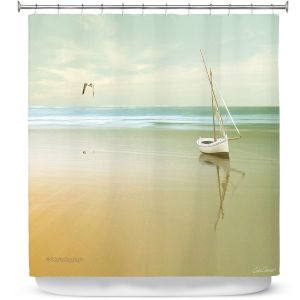 Premium Shower Curtains | Carlos Casamayor - Soft Sunrise On the Beach I