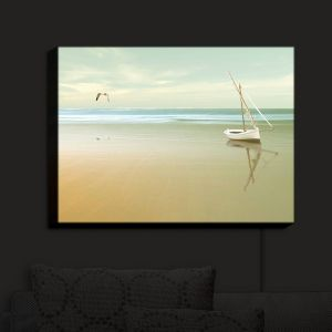 Unique Illuminated Wall Art 38 x 29 from DiaNoche Designs by Carlos Casamayor - Soft Sunrise On the Beach I