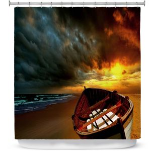 Premium Shower Curtains | Carlos Casomeyer - Soft Sunrise On The Beach IX