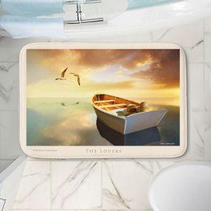 Decorative Bathroom Mats   Carlos Casamayor - The Lovers Birds and Boats