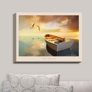 Decorative Canvas Wall Art | Carlos Casamayor - The Lovers Birds and Boats