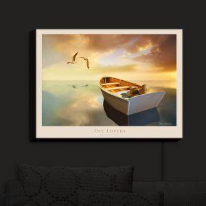 Nightlight Sconce Canvas Light | Carlos Casamayor - The Lovers Birds and Boats
