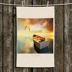 Unique Bathroom Towels | Carlos Casamayor - The Lovers Birds and Boats