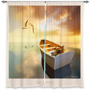Decorative Window Treatments | Carlos Casamayor - The Lovers Birds and Boats