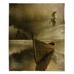 Decorative Fleece Throw Blankets | Carlos Casamayor - The Solitude Of the Sea IIIB