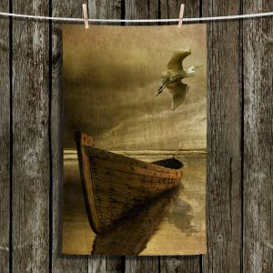 Unique Hanging Tea Towels | Carlos Casamayor - The Solitude Of the Sea IIIB | Boats Birds