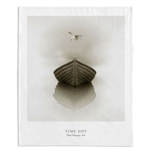 Decorative Fleece Throw Blankets | Carlos Casamayor - Time Out I Boat
